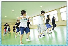 ダンス部、新体操部が主に使用するホール